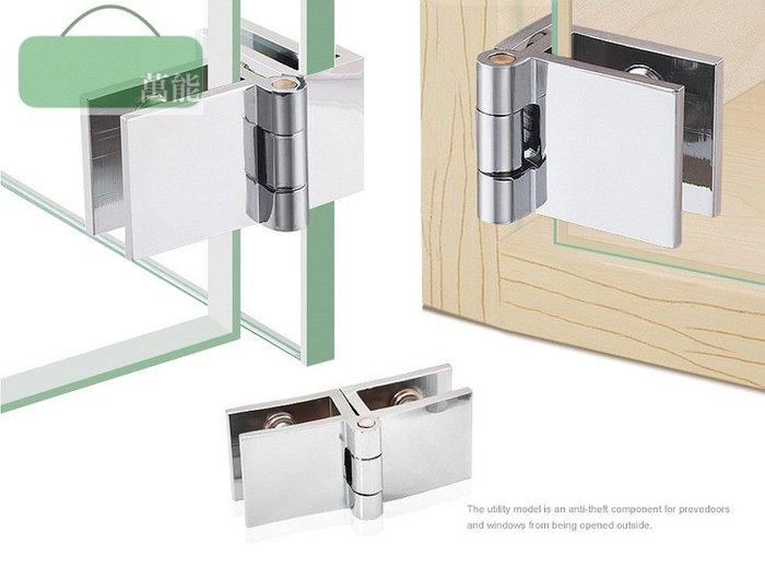 免開孔 鋅合金 展示櫃 玻璃櫃 櫃門鎖 防盜鎖 ~萬能百貨