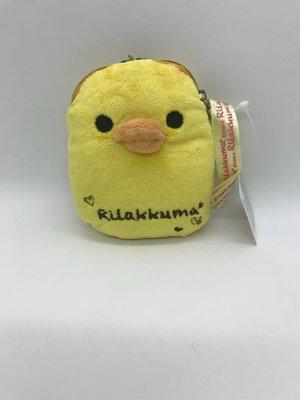*凱西小舖*日本進口正版SAN-X Rilakkuma黃色小雞 造型伸縮票卡夾 證件夾 零錢包