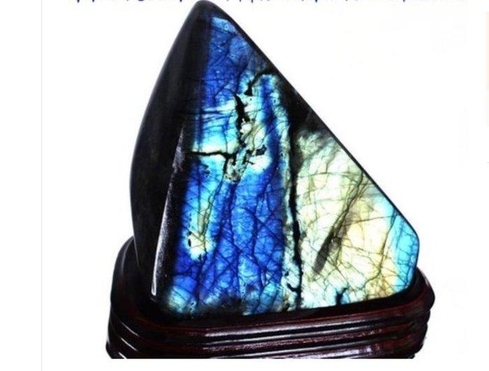一物一圖 天然斯里蘭卡月光/拉長石原石擺件