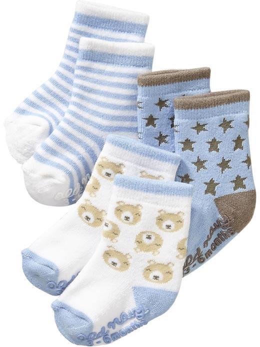【Nichole's歐美進口優質童裝】Old navy 男寶寶 嬰兒襪厚棉止滑顆粒*另有Carter's/OshKosh