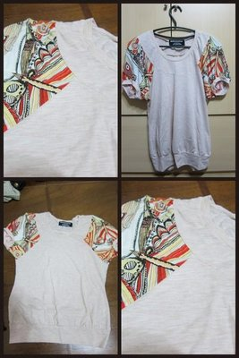 日系品牌BUSTLE DITCH 日本民族風 彩色圖案 短袖T恤