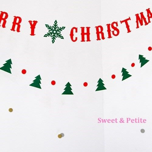 FW03❤綠森林紅圓圈造型掛飾組❤活動派對迎賓旗幟 party/聖誕節裝飾道具佈置品/紅綠配色彩旗