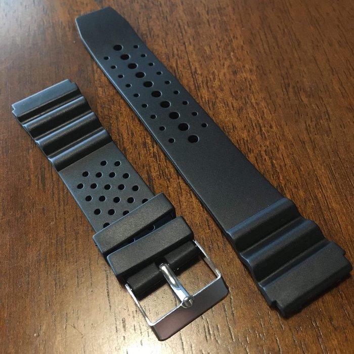 錶帶屋 22mm 薄款透氣PVC橡膠錶帶有效替代卡西歐 精工 星辰各品牌潛水 手錶