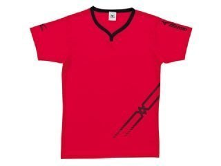 【憲憲之家】3折優惠美津濃MIZUNO男女同款 排球服 運動短袖上衣V2TA5G1462紅黑