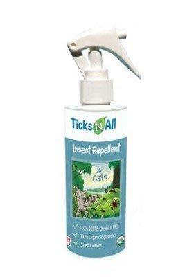 美國Ticks N all唯你安貓用跳蚤壁蝨噴劑8oz~USDA認證100%有機 可防蚊蒼繩恙蟎害蟲