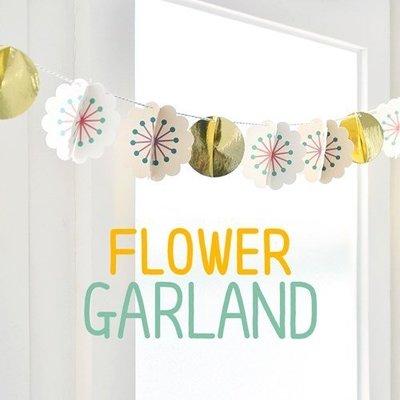 ♀高麗妹♀韓國 JamStudio FLOWER GARLAND 花火繽紛 派對/慶生/小孩房佈置 DIY裝飾花球~預購