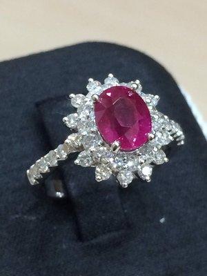 降價 天然紅寶石戒指《台中民生當舖》附GIA證書(緬甸)流當超低價-婚戒