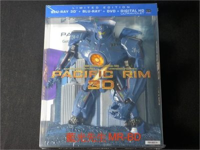 [3D藍光BD] - 環太平洋 Pacific Rim 3D + 2D + DVD 四碟吉普賽危機典藏版