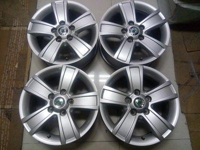 Skoda原廠15吋鋁圈A3--A4--T4福斯GTI--JETTA--PASSAT--TDI--Octava-golf