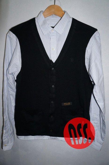 「NSS』NEIGHBORHOOD CHANNEL 7 C-SHIRT 條紋 假兩件 長袖 襯衫 S