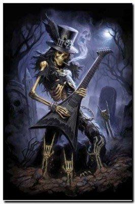 ##進口海報 72-1 slash Guitarist Skull 2 guns n' roses 60 x 90 cm
