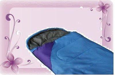 treewalkerஐ美麗讚 ஐ優質 併深紫色 露營登山旅行戶外棉質舒適手提睡袋 (水藍色下標區) 339