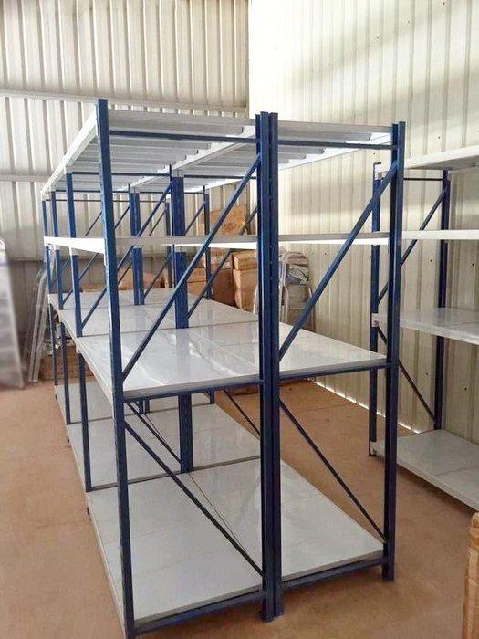 可並聯(可自行調整高度) 免螺絲四層全鋼材角鋼架 烤漆多用途物料架 倉儲架 展示架 陳列架 置物架 貨架 倉庫收納展覽架