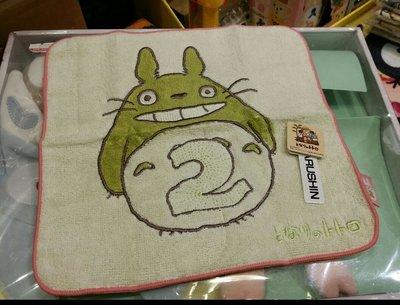 原裝 日本 宮崎駿 系列 Totoro 龍貓 月份 表達 小方巾 毛巾 Towel 23 × 23cm 2月份 Feb