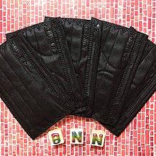 BNN大童平面FM四層口罩:搖滾黑(5片裝)