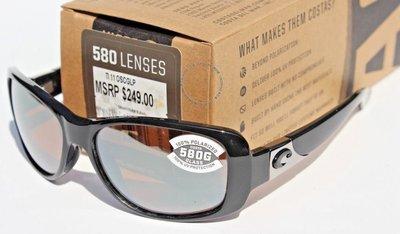COSTA DEL MAR Tippet POLARIZED太陽眼鏡女式黑色/銀色鏡面580G新款