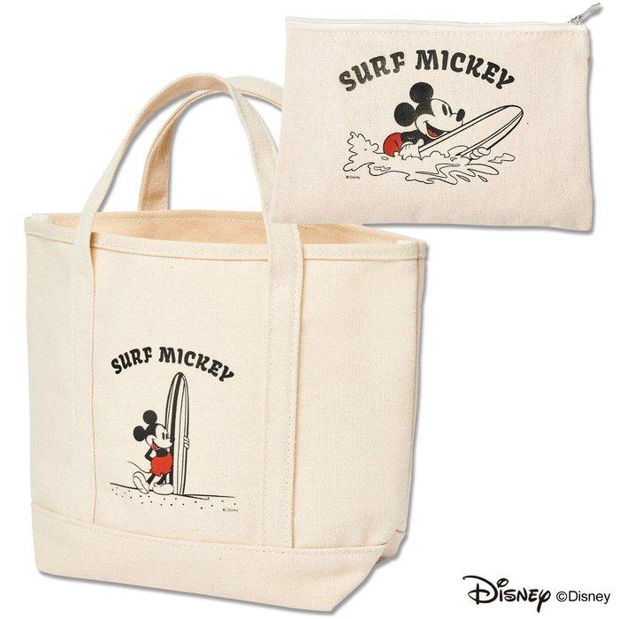 ☆Juicy☆日本雜誌mini附錄 迪士尼 米奇 米老鼠 托特包 購物袋 手拎包+化妝包 收納袋 2646