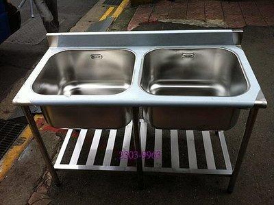 雙口水槽//(深:30公分)//大廚水槽//營業用水槽/