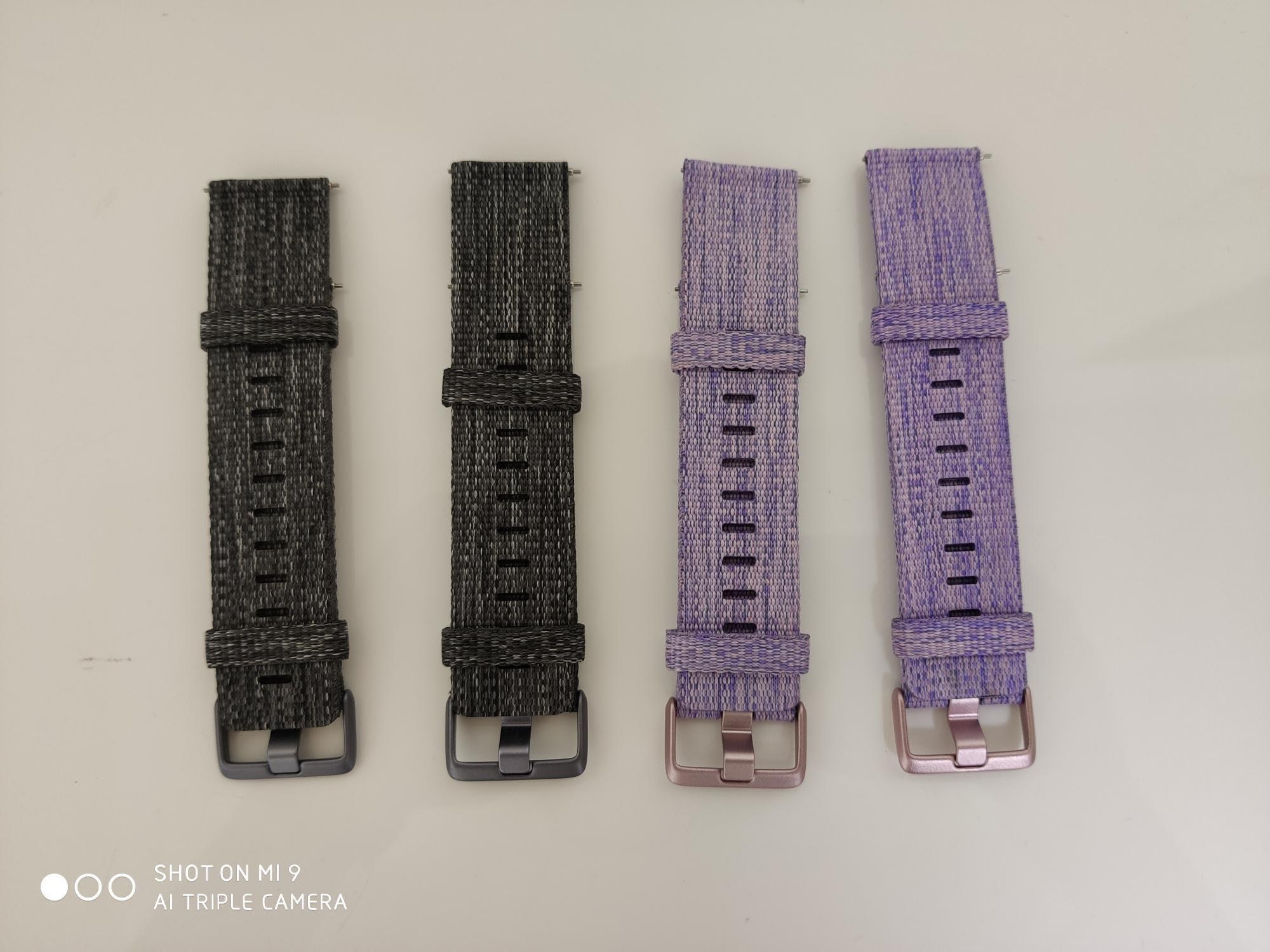 當天發貨 黑灰色 紫色 fitbit versa 原廠錶帶 原裝錶帶 尼龍表帶 尼龍錶帶