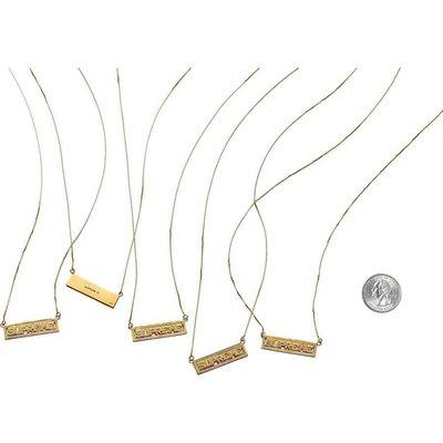 全新正品Supreme SS20 Name Plate 14K Gold Pendant 金 項鍊