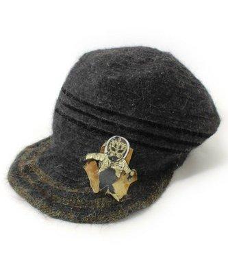 Ca4La日本製  復古年華PARTY獨特風格羊毛毛海小臉款造型帽 ,范范最愛款~ (NO.1070) 低價起標
