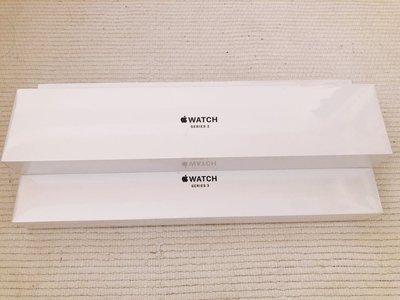 限定3組全新未拆封 可刷卡含運出清 AppleWatch Series3 42公釐太空灰色錶殼搭配黑色錶帶 (GPS版)