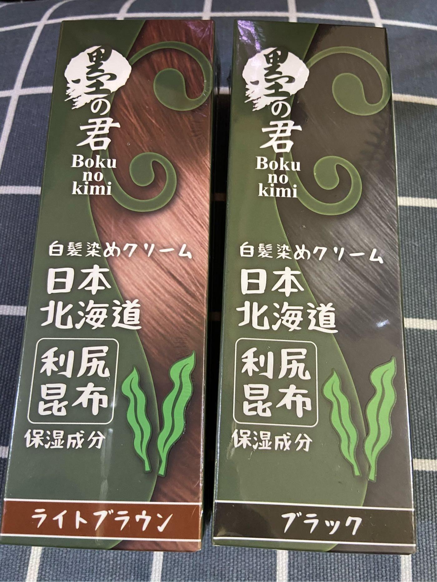 「紅棕色*2+染刷*1」日本墨之君利尻昆布快速天然白髮染(效期202108以後)