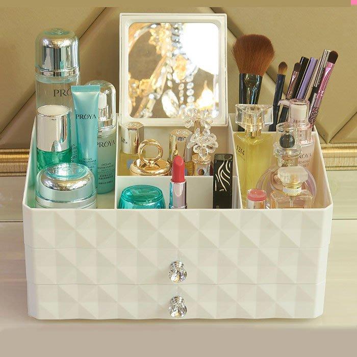 5Cgo【鴿樓】含稅會員有優惠 565275904598 韓式化妝品收納盒抽屜式化妝盒梳妝台桌面收納盒家用首飾品塑料大號