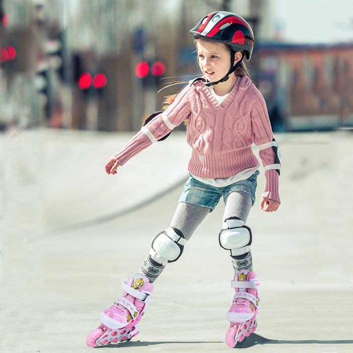 5Cgo【樂趣購】558880746410 溜冰鞋滑輪鞋全套裝男女旱冰鞋路面直排單排輪可調節兒童成人初學者幼兒園小學獎品