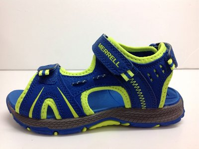 Merrell 專業戶外涼鞋 兒童/中童/大童/親子款/女款 雙黏貼帶設計 防滑耐磨耐水性 17~25cm