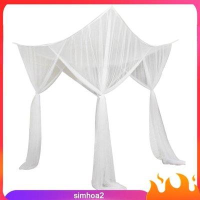 4 Corner Post Bed Canopy Mosquito Net Netting