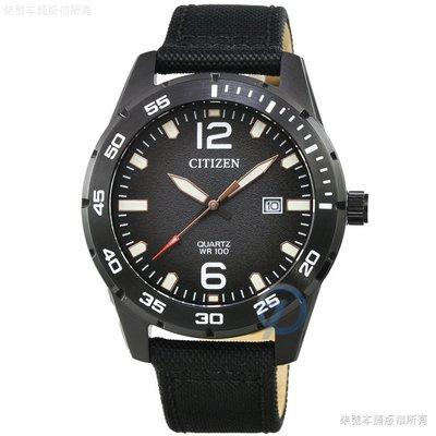 【柒號本舖】CITIZEN 星辰大錶徑石英皮帶錶-IP黑色 /  BI1045-05E 台北市