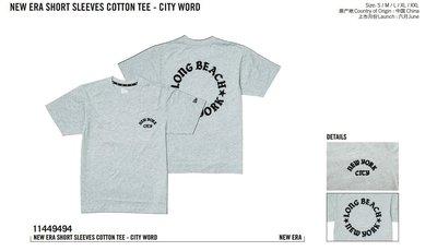 New Era Branded Long Beach New York Grey Tee NE城市紐約海灘灰色踢恤