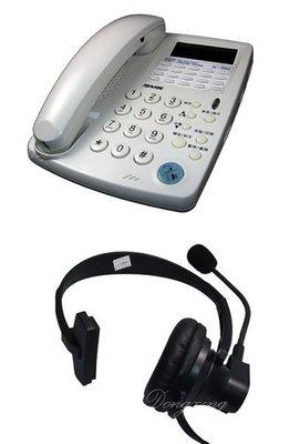 【通訊達人】TENTEL 國洋 K-362 耳機型來電顯示電話機+耳機_聽筒增音_另售K-302H/KX-TS880MX