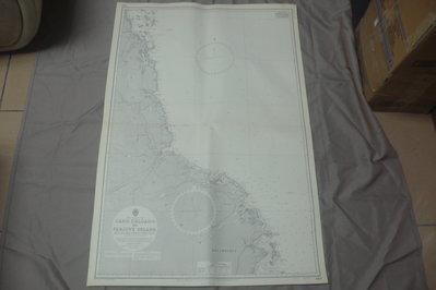 紫色小館90-1-DEPTHS IN METRES-航海圖-CABO DELGADO TO FANJVE ISLAND