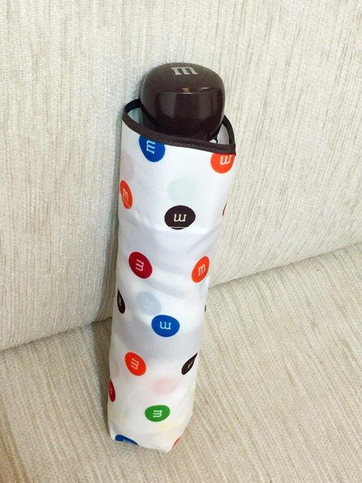 天使熊小鋪~美國帶回M&M巧克力彩繪雨傘 晴雨傘 摺疊雨~附收納套 原價790