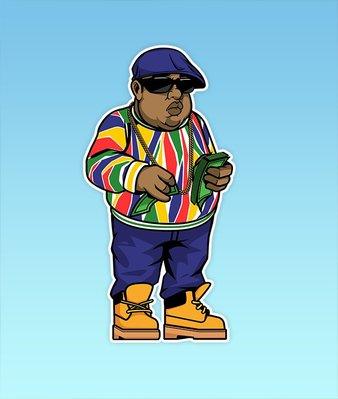 [Y A V] Pro N Hop 授權經銷 BIGGIE FULL BODY 全身 人物造型 貼紙 嘻哈 饒舌