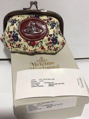 絕版 Vivienne Westwood Treasure Island Beige 米色散子包