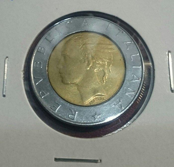 義大利雙色500里拉錢幣一枚