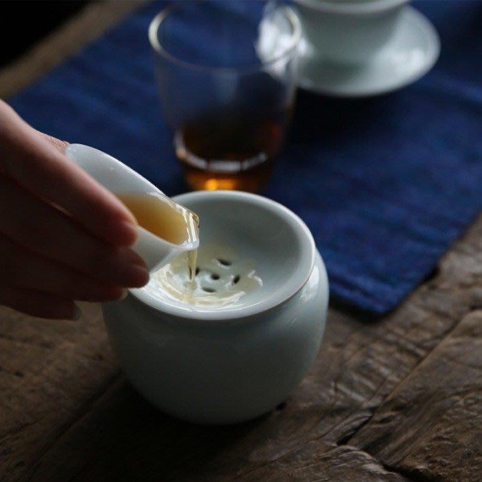 5Cgo【茗道】含稅548291527774 小形脂白建水水盂杯洗儲水日式水洗功夫茶具配件茶道茶水桶茶渣桶陶瓷瀝水茶洗廢