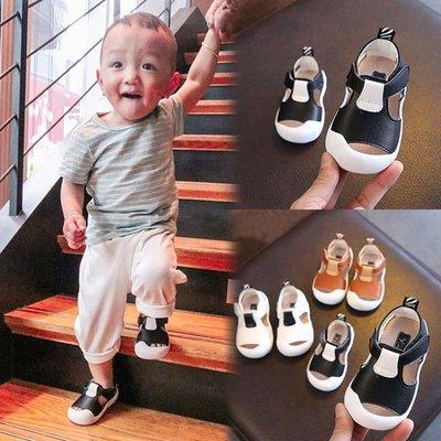 夏季寶寶鞋嬰兒軟底學步鞋0一1歲男女童幼兒包頭鏤空涼鞋6-12個月