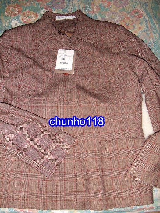 二手衣出清 全新 SINGLE NOBLE獨身貴族咖啡色條紋長袖外套 [冬季]XL *(女)