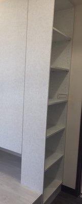 台中系統櫃--開放式系統側邊收納櫃 { 湯姆 裝飾收納系統櫃 } 客製化