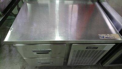 達慶餐飲設備 八里二手倉庫 道具倉庫 二手商品 3尺2全藏抽屜式工作台冰箱