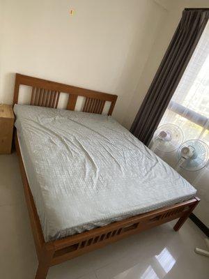 詩肯柚木 雙人床架