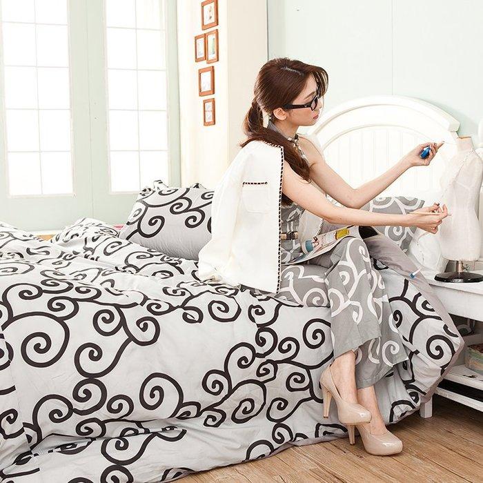 床包 / 單人【里昂莊園黑】含一件枕套  水蜜桃絲超細纖維  戀家小舖台灣製AAP101