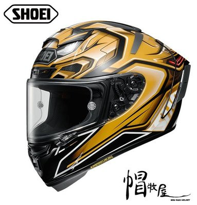 【帽牧屋】 日本 SHOEI X-Fourteen AERODYBN TC-9 全罩式安全帽 X14 公司貨 黑/金