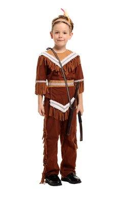 乂世界派對乂萬聖節服裝,萬聖節服飾,變裝派對,兒童變裝服-兒童酋長服裝/部落小酋長