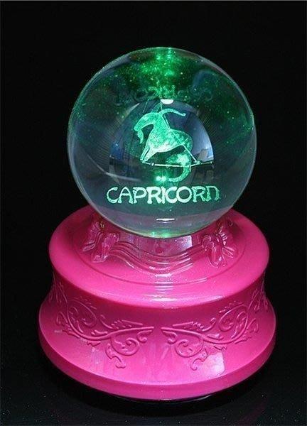 【優上精品】山羊座水晶球音樂盒八音盒生日禮物生日女老婆女孩生日禮物浪漫特別白(Z-P3155)