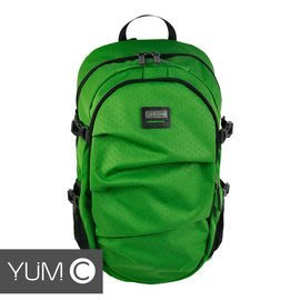 【風雅小舖】【美國Y.U.M.C. 格林系列Active Backpack 15.6吋筆電後背包 綠色】電腦包/雙肩背包